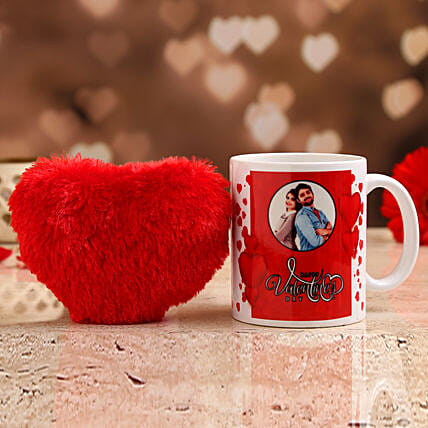 mug with red heart for vday