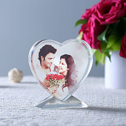 Personalized Heart Shaped Show Piece Online:Personalised Engraved