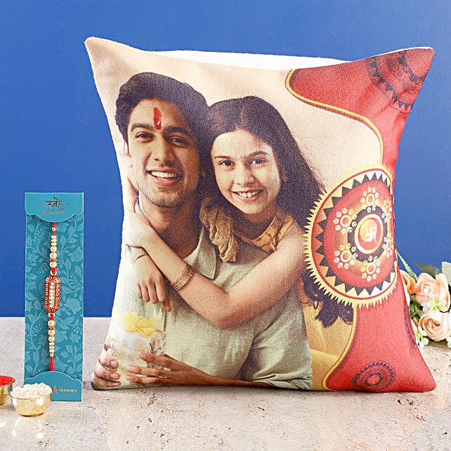 Personalised Cushion & Capsule Rakhi Online:Rakhi With Cushions
