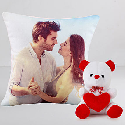 Personalised Cushion n Teddy Combo