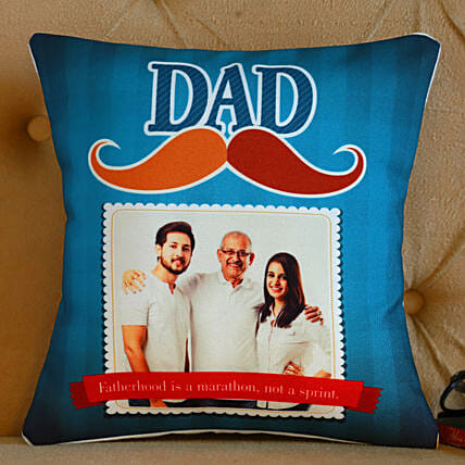 Personalised Dad Mustache Cushion- Hand Delivery