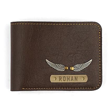 customized brown wallet