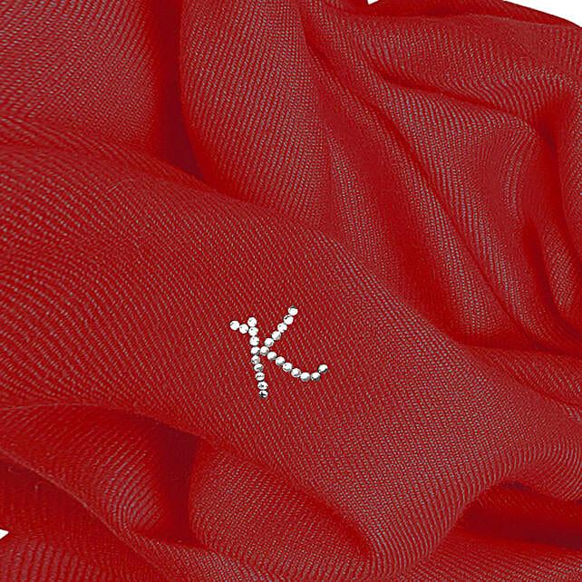Online Customised Dark Red Pashmina