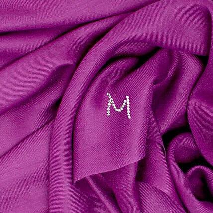 Online Customised Deep Purple Pashmina