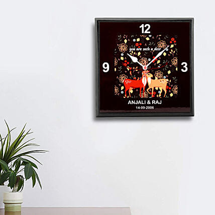printed wall clock for anniversary