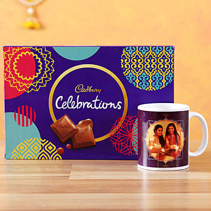 Send White Mug with Chocolates