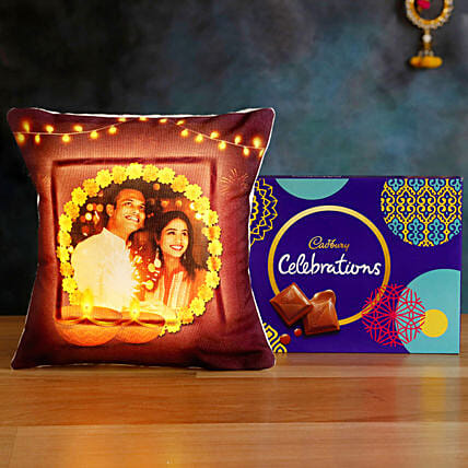 Order Online LED Cushion with Cadbury