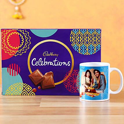 Buy Online White Mug with Cadbury Chocolates