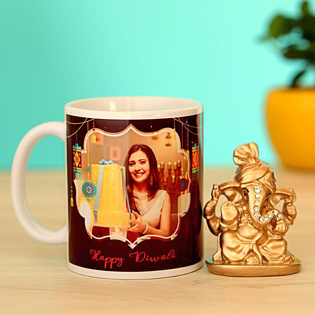 happy diwali mug n idol combo online