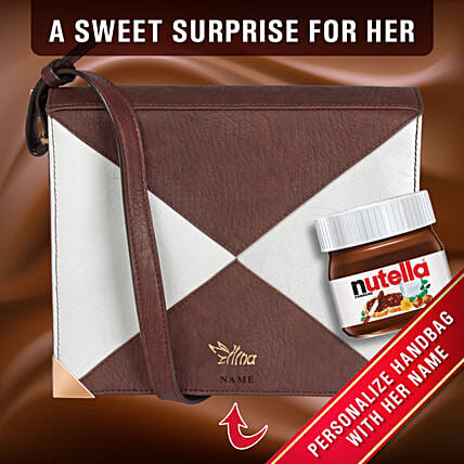 Personalised Dual Tone Ladies Purse Nutella:Personalised Gifts N Chocolates