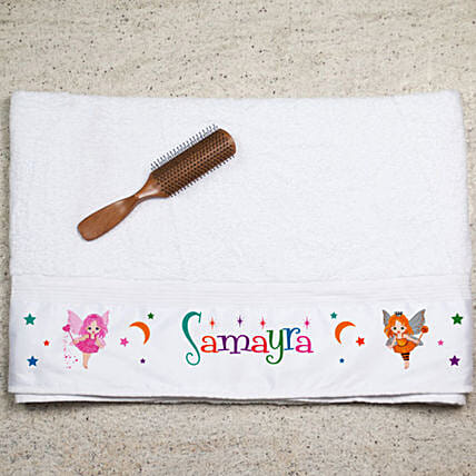 Personalised Fairy Print Towel