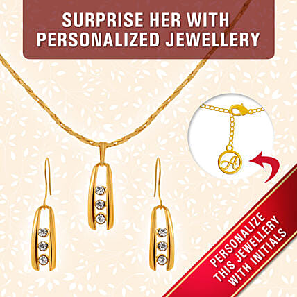 fancy personalised pendant set online:Personalised Jewellery