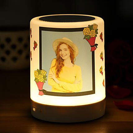 Personalised Floral Bliss Bluetooth LED Speaker