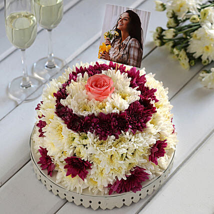 Online Customised Floral Cake