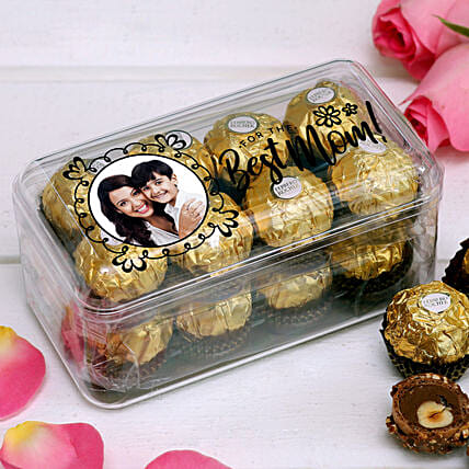 Personalised For The Best Mom Ferrero Rocher Box