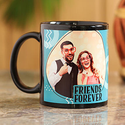 black printed mug for friends