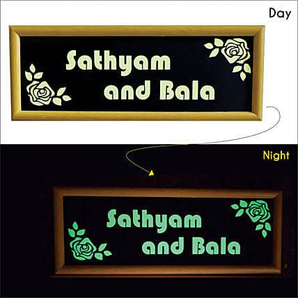 Lighting Name Plate For House:Personalised Name Plates