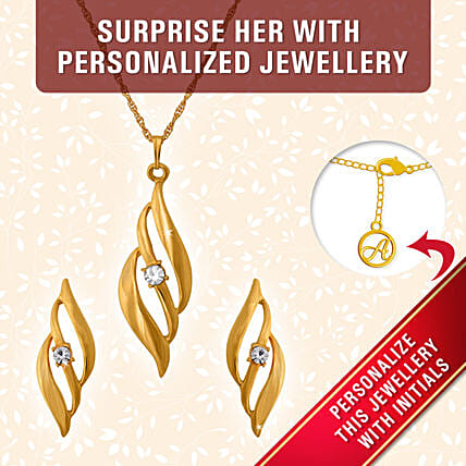 personalized elegant pendant set for her