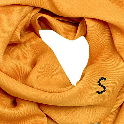 Online Customised Golden Ocher Pashmina