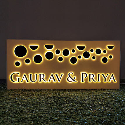 Name Plate with LED Light Online:Personalised Name Plates
