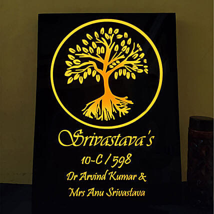 Customised Golden Tree Name Plate