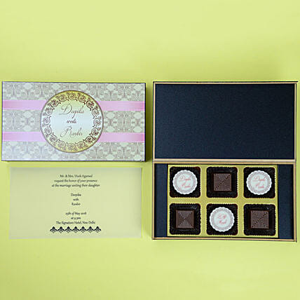Wedding Invitation Card & Chocolates Online