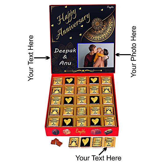 Order Personalised Anniversary Chocolate