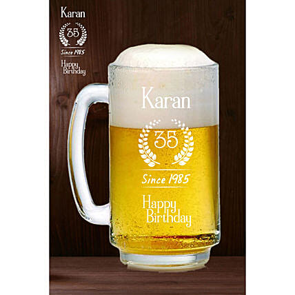 Personalised Happy Birthday Beer Mug Online