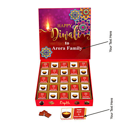 BuyPersonalized Diwali Chocolates Gift Box:Customised Chocolates