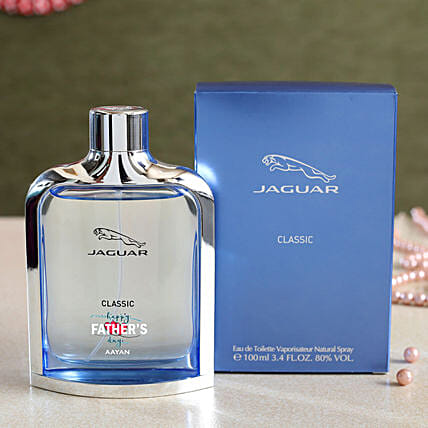 Personalised Happy Fathers Day Jaguar Classic EDT