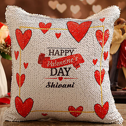 vday theme personalised cushion online:Personalised Cushions for Valentine