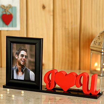 Love U Printed Photo Table Top For Him Online