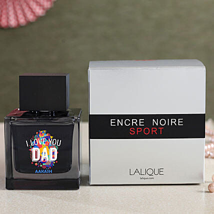 Personalised I Love Dad Lalique Encre Noire Sport EDT:New Arrival Personalised Gifts