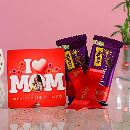 Personalised I Love Mom Table Top Crackle Hand Delivery