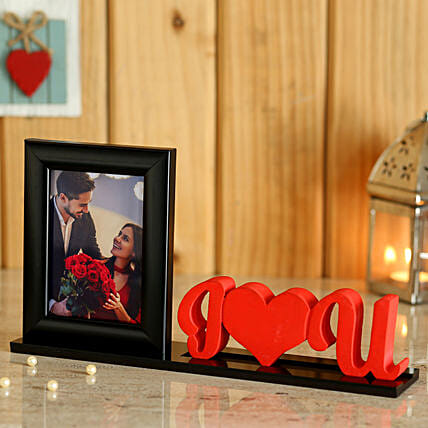 Love U Printed Photo Table Top For Him