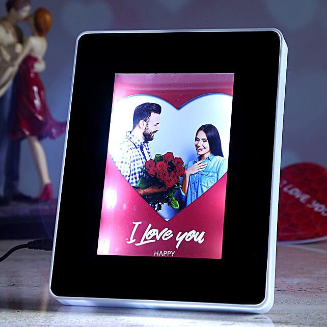 valentine theme personalised magic mirror