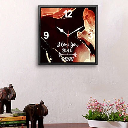 personalised wall clock for home décor