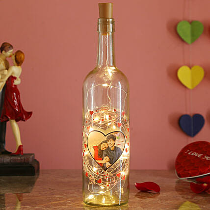 personalised bottle lamp online