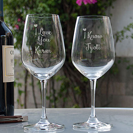 Online Customised Wine Glasses