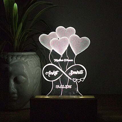 personalised night lamp home décor