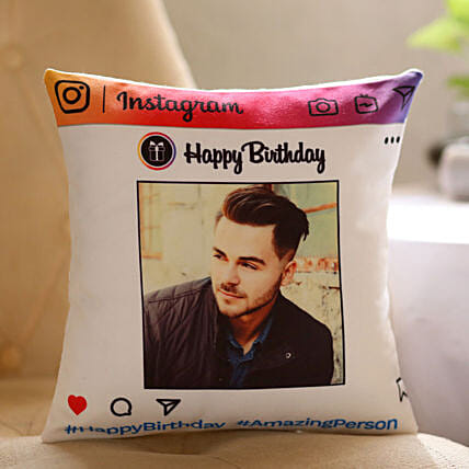 Instagram Theme Birthday Cushion Online