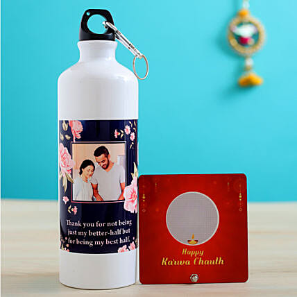 online personalised karwa chauth item for him:Send Karwa Chauth Personalised Gifts