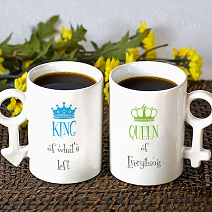 Personalised King Queen Mug Set