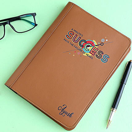 Customised Leather Notebook:Personalised Stationery