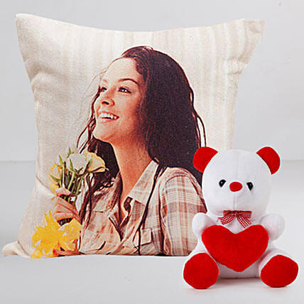 Personalised LED Cushion n Teddy