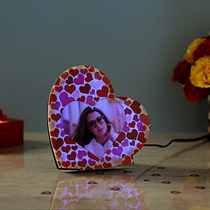 valentine day personalised led lamp:Personalised Lamp