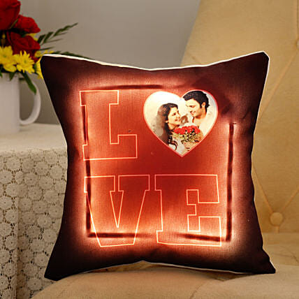 led customised cushion for valentine day