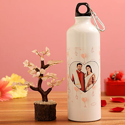 Wish tree with personalised bottle