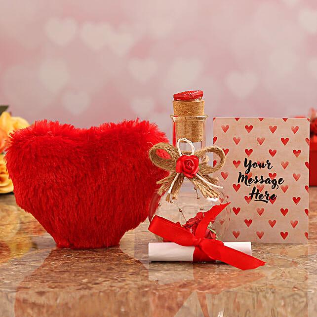 online valentine surprise personalised message bottle
