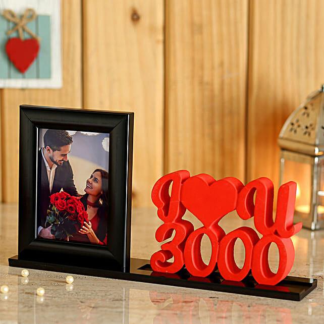 Customise Love U Printed Photo Table Top:Valentine Personalised Photo Frames